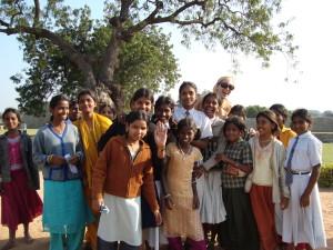 Children in India always happy to meet western people