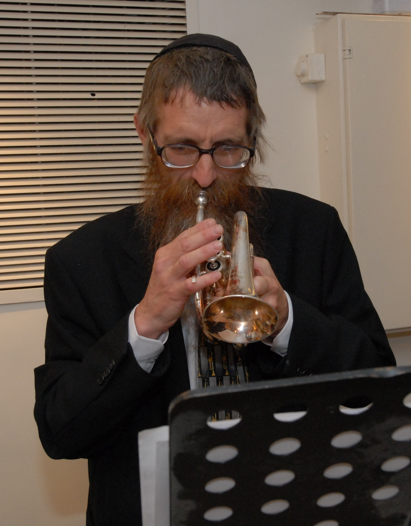 Playing trumpet at our wedding