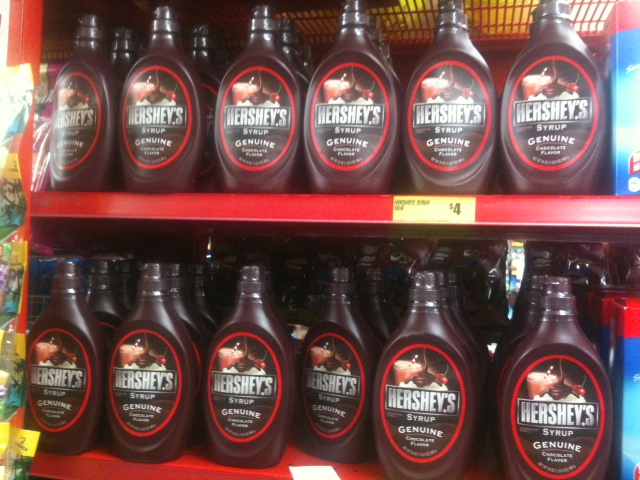 Imported kosher chocolate sauce OU(D) from the USA for sale in The Reject Shop