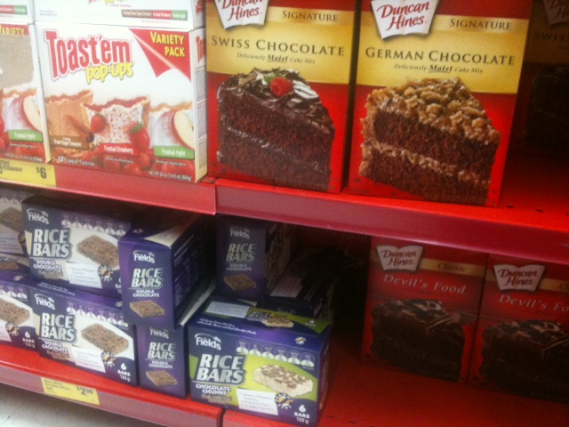 Imported kosher cakes and snacks from the US and Canada for sale in The Reject Shop