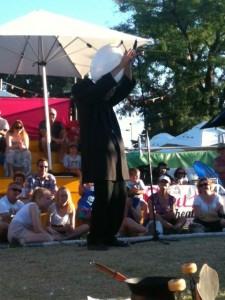 Dado, our favorite street performer at the Adelaide Fringe