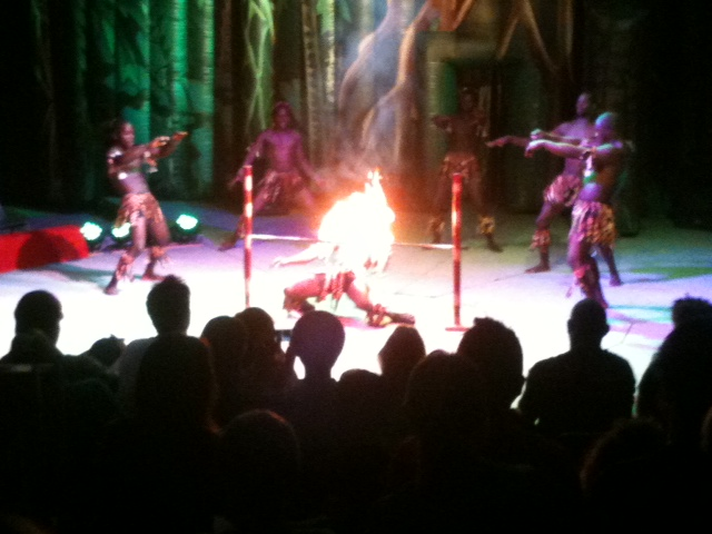 The Royal Kenyan Acrobats performing in the Loritz Circus: Circus Out of Africa