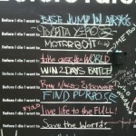 Before I die, I want to things people wrote in Adelaide Australia