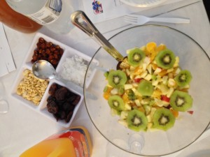 Eating exotic fruit on Tu' B'Shevat the Jewish New Year for Trees
