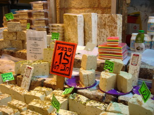 Halva for sale at Machaneh Yehudah Maerket in Jerusalem