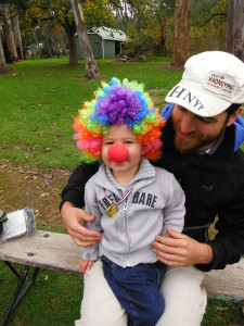 Two year old walks for Clown Doctors