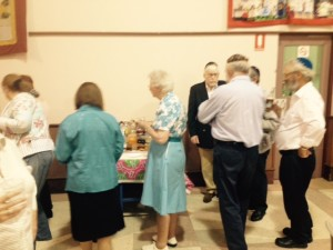 Congregants enjoy refreshments at the Adelaide Hebrew Congregation havdallah concert