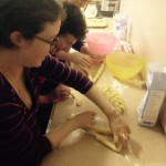 Learning a new way to braid challah