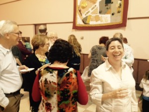 Congregants at the AHC enjoying refreshments during the havdallah concert