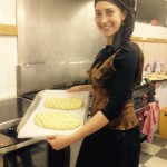 Rebbetzin Rachel shows off her 5 & 9 strand challah braids