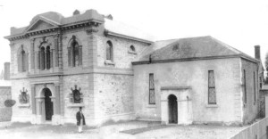 Original Adelaide synagogue consecrated 1850 on right and 1870 on left